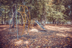 Deserted Playground in autumn Park Royalty Free Stock Images