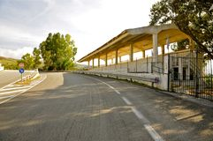 Deserted Racing Complex Grandstand, Floriopolis, Cerda, Sicily Royalty Free Stock Photos