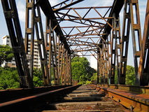 Deserted railway bridge Royalty Free Stock Photography