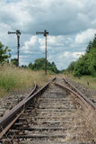 Deserted railway Royalty Free Stock Photo