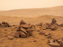 Deserted red terrestrial planet Stock Photography