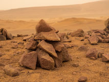Deserted red terrestrial planet Royalty Free Stock Photography