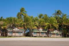 Deserted resort on the west coast of Myanmar. Stock Images