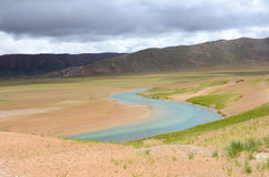 The deserted rivers in the plateau of Tibet Stock Photography