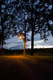 Deserted road. Where dos your journey bring you? This deserted road at nightfall can lead you anywhere Stock Images