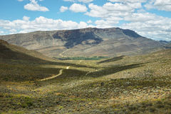 Deserted road into Cederberg nature reserve Royalty Free Stock Photography