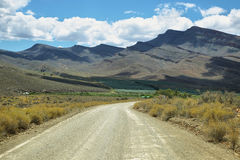 Deserted road into Cederberg nature reserve Royalty Free Stock Images