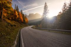 Deserted road Royalty Free Stock Photos