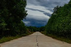 Deserted road in Middle Vietnam stock image