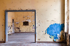 Deserted room. Old leave deserted room, ancient casern building Royalty Free Stock Photography