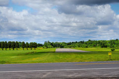 Deserted runway on airfield Royalty Free Stock Photos