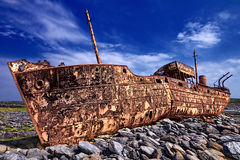 Deserted rusty ship Stock Photos