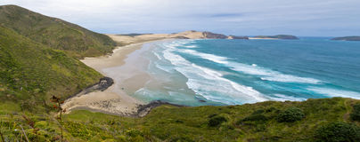 Northland sand beach near Cape Reinga New Zealand Royalty Free Stock Images
