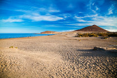 Deserted Sandy Beach Playa El Medano Royalty Free Stock Photography