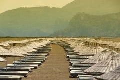 Deserted sandy beach Stock Photo