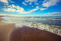 Deserted sandy beach Stock Image