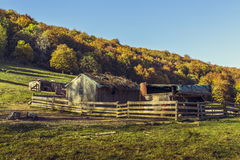 Deserted sheepfold Royalty Free Stock Photography