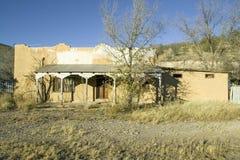 Deserted southwestern house on Mescalero Apache Indian Reservation near Ruidoso and Alto, New Mexico Stock Photo