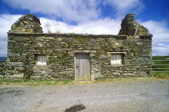 A deserted stone cottage in West Cork, Ireland Stock Photography