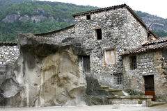 Deserted stone house Stock Photos