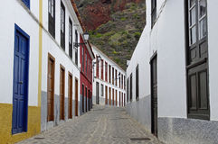 The deserted streets in Agulo town Royalty Free Stock Photos