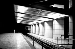 Deserted Subway at Night. This is a picture of a deserted subway station at night Stock Images