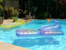 Deserted swimming pool stock image