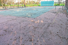 A deserted tennis court Royalty Free Stock Image