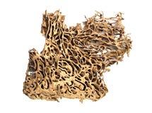 Deserted termite nest. Isolated on white Stock Photos