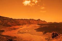 Deserted terrestial planet Stock Photo