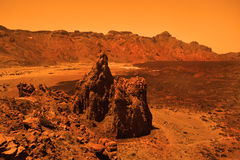Deserted terrestrial planet Stock Photography