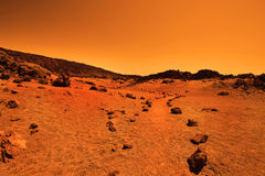 Deserted terrestrial planet Stock Photos