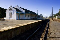 Deserted train station Stock Images