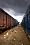 Deserted trainyard Stock Photography