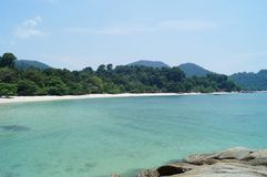 Deserted tropical beach, Pangkor island, Malaysia stock photography