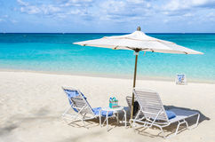 Deserted Tropical Beach and Turquoise Sea Royalty Free Stock Photography