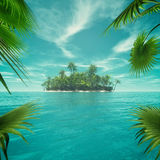 Deserted tropical paradise Stock Images
