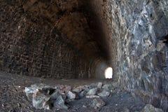 Deserted tunnel Stock Photo