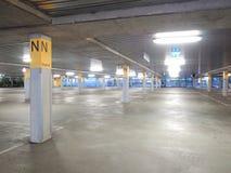 Deserted underground concrete car park Royalty Free Stock Photography
