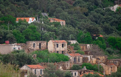 Deserted village. In the Crete country side there are small villages which are almost deserted royalty free stock photos