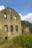 Deserted village of Aragon, in the Pyrenees Mountains, Province of Huesca, Spain Stock Photography