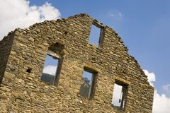 Deserted village of Aragon, in the Pyrenees Mountains, Province of Huesca, Spain Stock Photos