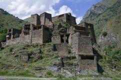 Deserted village Shatili. Abandoned fortified village of Shatili in Georgia Stock Photo