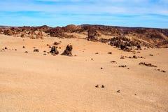 Deserted volcanic landscape Stock Photography