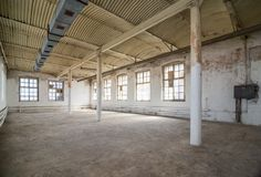 Deserted warehouse Royalty Free Stock Photos