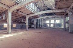 Deserted warehouse royalty free stock photo