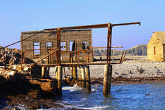 Deserted Whaling station. On Halifax island in Namibia Royalty Free Stock Image