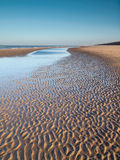 Deserted winter beach Stock Image