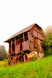 Deserted wooden house royalty free stock image