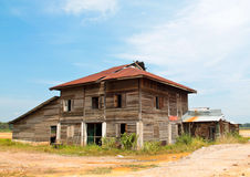 Deserted wooden house Stock Photos